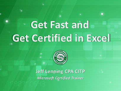 Earn CPE's learning Microsoft Excel